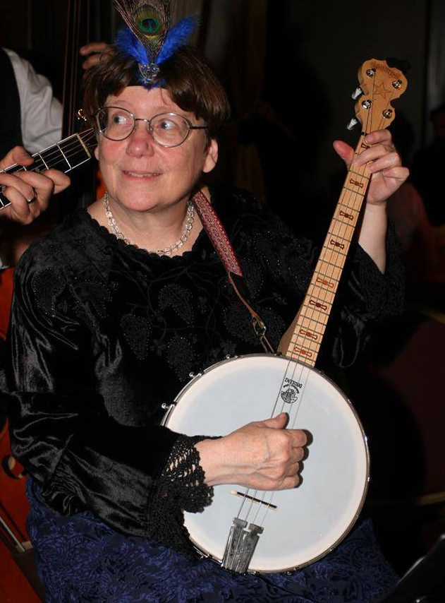 Fear not — 'tis only a four-string parlour banjo!