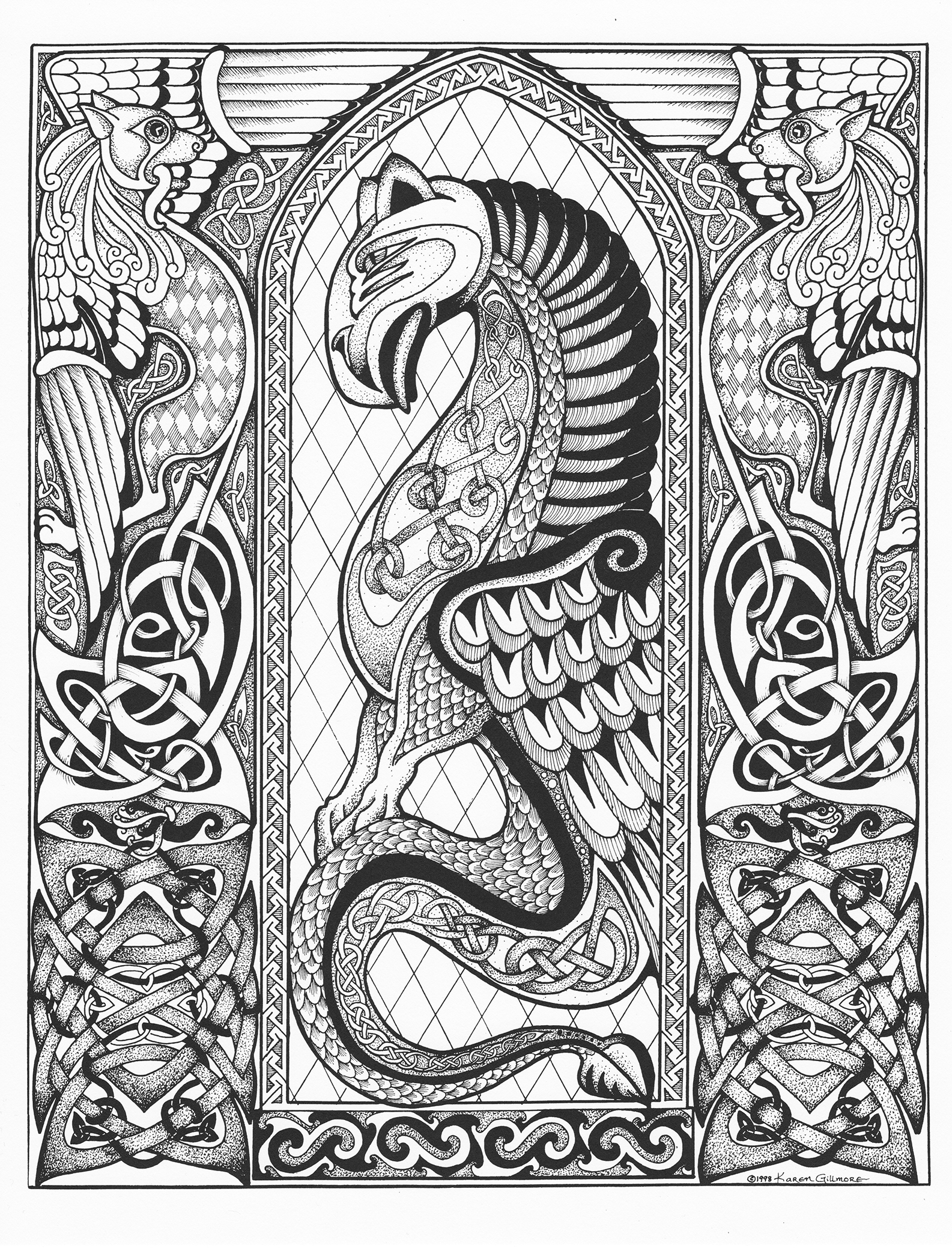 Embellishing And Colouring Celtic Design