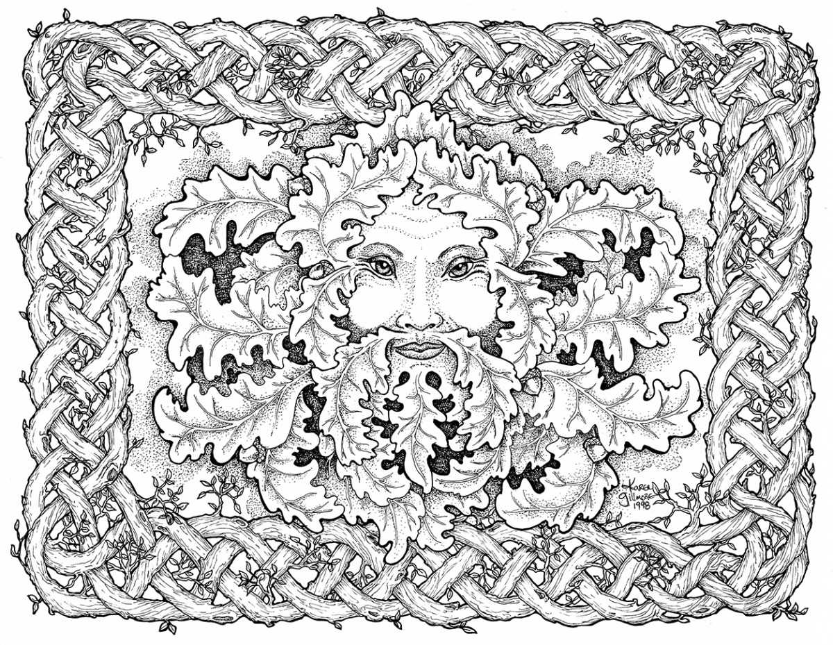 green man coloring pages - photo#9