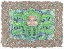 Celtic Green Man (pen & ink, watercolour)