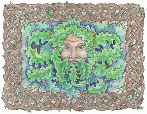 Celtic Green Man colour