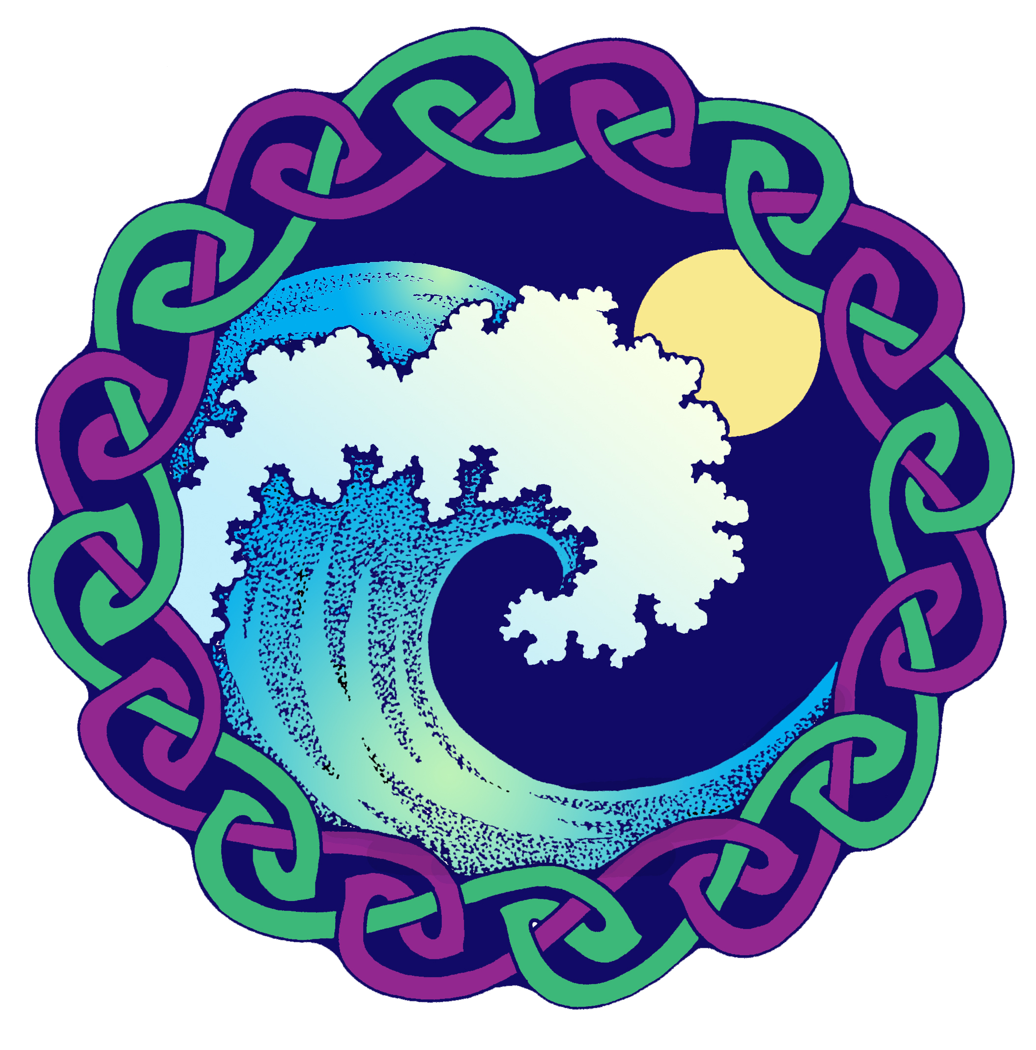 moontide colour - Celtic Pictures To Colour