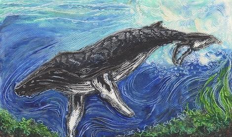 sm.oil pastel humpback