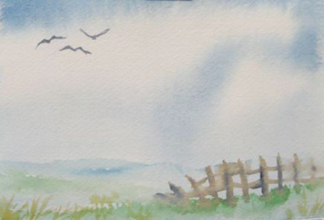 """New Horizons"" — watercolour, 4x6 inches"