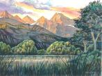 """""""Willow Banks"""" — part of a large wetland park at the base of Montana's Mission Mountains that I visited once."""