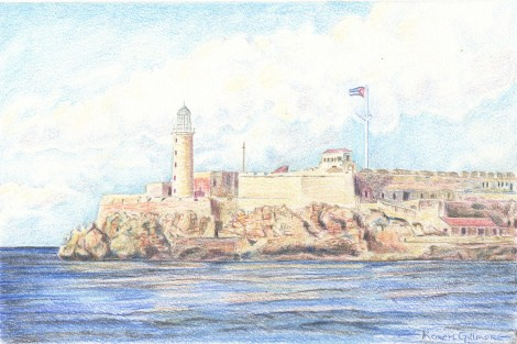 """El Morro"" — the famous landmark fort at the mouth of Havana harbour. I got really caught up in the rocks on this one."