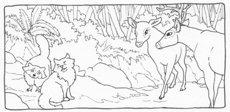 Spam and Renfrew meet the deer, Nelda and Buck. If you want to find out what's going on in the town, ask a deer, because they are knowledgable gossips.
