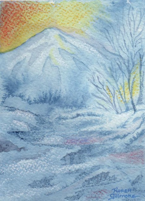 winter watercolours 1