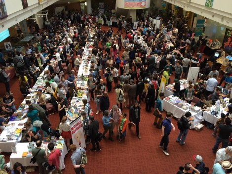 TCAF is all about the creators of indie comics and small press publishers. I wish I could have bought something from each of them, but I'd have had to open my own library. Oh, and win the lottery!