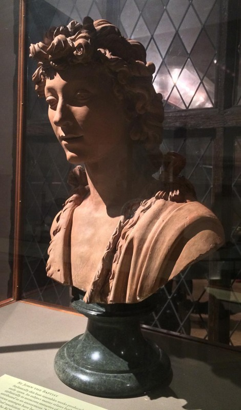 Here's John the Baptist in terracotta by an unknown Italian sculptor, Isn't he gorgeous?