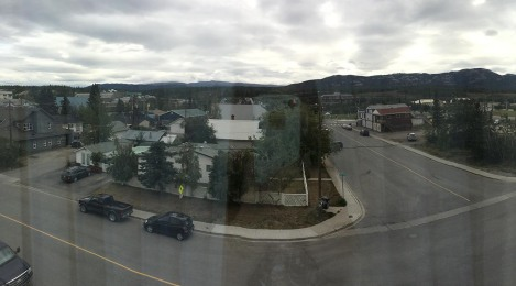 After checking in at the hotel, I proceeded to amuse myself by taking panorama pictures from my 3rd-story windows. I love how panorama shots are like fun-house mirrors!