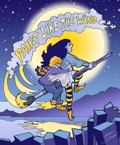 Paint Like the Wind — pen & ink, digital colouring (Photoshop)