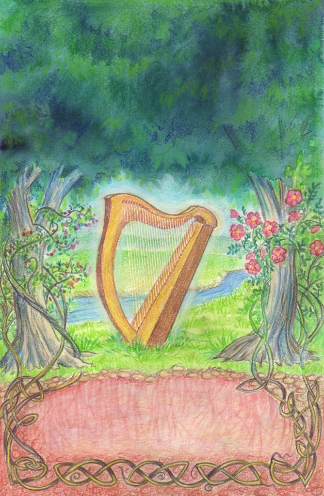 In Picking the Ballad's Bones, the protagonists go to Ireland to find the roots of  their music, so I had to include some Celtic knotty roots.
