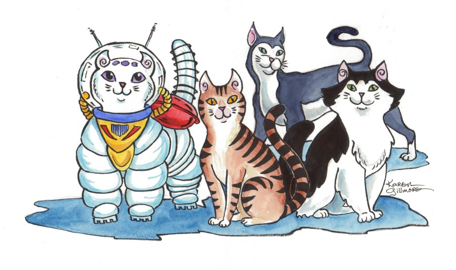 The Quadra Cats in the world of colour!