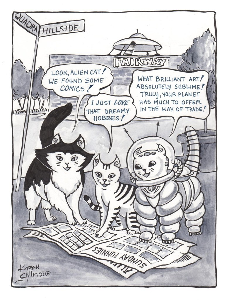 The Quadra Cats helped out the Camosun Comic Arts Festival with this image for an Indiegogo perk.