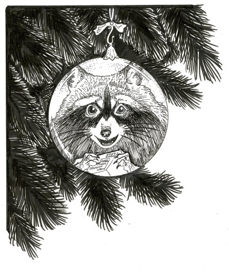 I used Paper for Pens with Pigma Micron pens and brush Marker for Renfrew the Raccoon's illustration from Father Christmas.