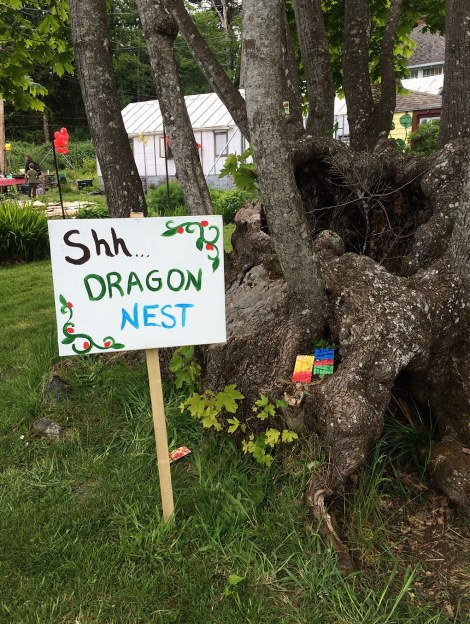 Dragons were promised, and dragons there were — at least incipient dragons! Just wander over and peer inside the tree…