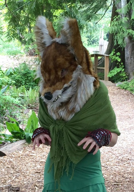 I found this fox woman walking down the path! Turned out she was capable of some eerie transformations: