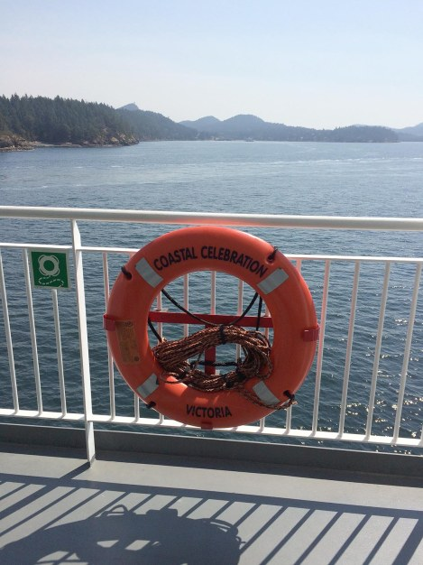 We travelled over on the largest and newest of BC Ferries' fleet, the Coastal Celebration. I found a quiet space on deck and just hung out, breathing in sea air for inspiration!