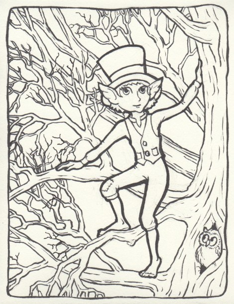 If you look carefully into the treetops, you might spot this dapper little fellow.