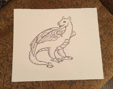 A simple little wyvern; it was pretty busy so this is all I had time to do at the convention.