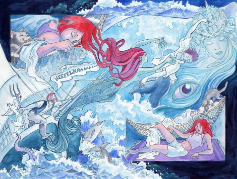 The dream sequence from Book One of Mermaid Music. You can read the webcomic here.