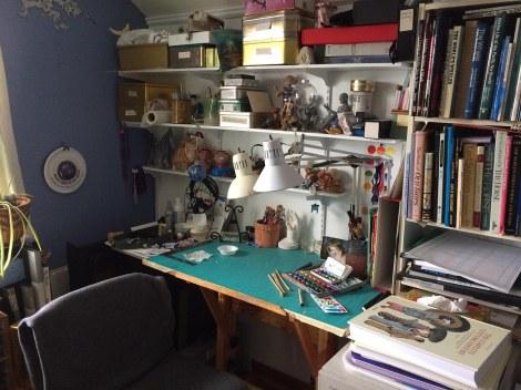 3 studio watercolour desk