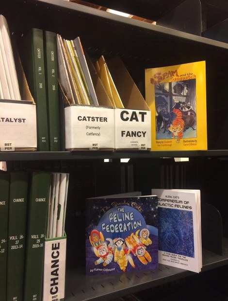 Cat section in library TCAF